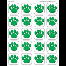 Green Paw Prints Stickers