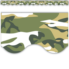 Camouflage Scalloped Border Trim