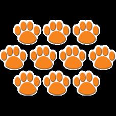 Orange Paw Prints Accents