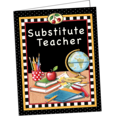Substitute Teacher Pocket Folder from Mary Engelbreit