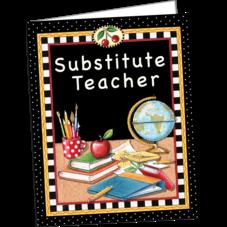 Substitute Teacher Pocket Folder from Mary Engelbreit