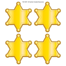 Western Sheriff Stars Wear'Em Badges