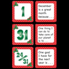 December Polka Dots Calendar Days/Story Starters