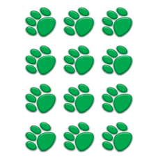 Green Paw Prints Mini Accents