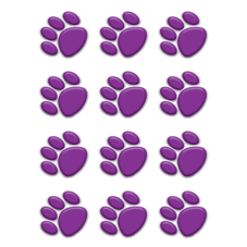 Purple Paw Prints Mini Accents