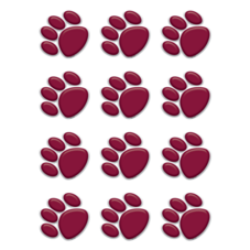 Maroon Paw Prints Mini Accents