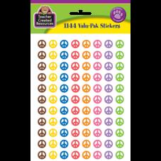 Peace Signs Mini Stickers Valu-Pak