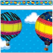 Hot Air Balloons Straight Border Trim