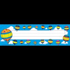 Hot Air Balloons Name Plates (flat)