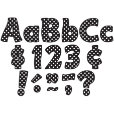 "Black Polka Dots Funtastic 4"" Letters Combo Pack"