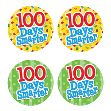 100 Days Smarter Wear' Em Badges