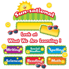 Happy Suns Sunsational Work Bulletin Board Display Set