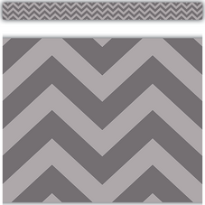 Gray Chevron Straight Border Trim