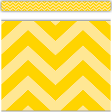 Yellow Chevron Straight Border Trim