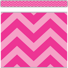 Hot Pink Chevron Straight Border Trim