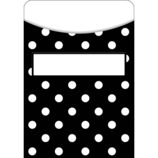 Black Polka Dots Library Pockets