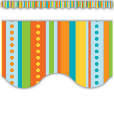 Zany Stripes Scalloped Border Trim