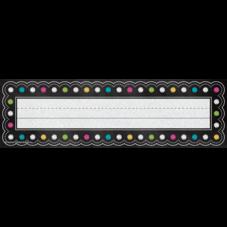 Chalkboard Brights Name Plates (flat)