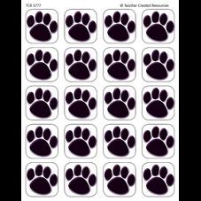 Black Paw Prints Stickers
