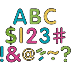 "Chalkboard Brights Classic 2"" Letters Uppercase Pack"