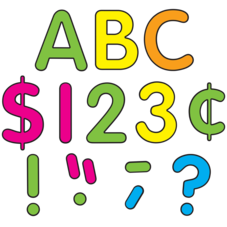 """Neon Brights Classic 4"""" Letters Uppercase Pack"""