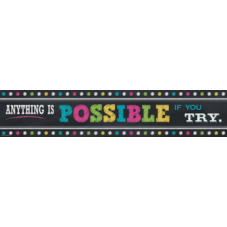 Chalkboard Brights Anything is Possible Banner