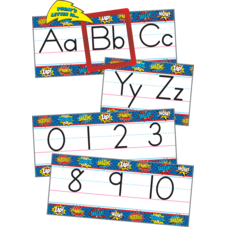 Superhero Alphabet Line Bulletin Board Display Set