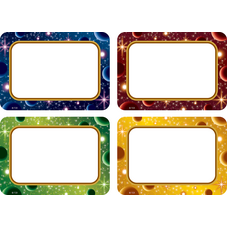 Stellar Space Name Tags/Labels Multi-Pack