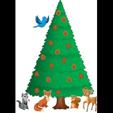 Woodland Pine Tree Bulletin Board Display Set