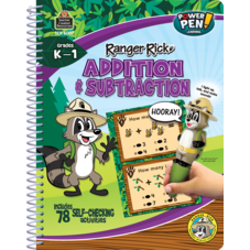 Ranger Rick Power Pen Learning Book: Addition & Subtraction