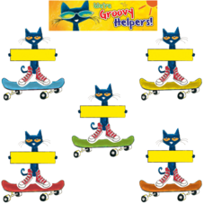 Pete the Cat Groovy Classroom Jobs Mini Bulletin Board