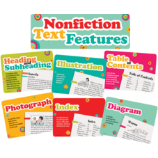 Nonfiction Text Features Bulletin Board Display Set