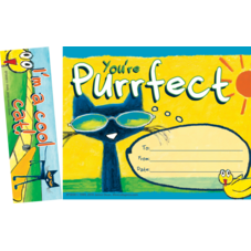 Pete the Cat You're Purrfect Bookmark Award