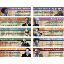 Notable Black American Mini Bulletin Board
