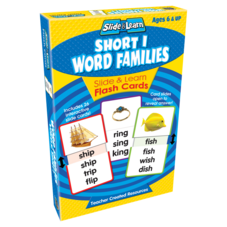 Short I Word Families Slide & Learn Flash Cards