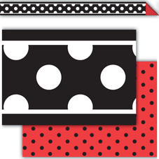 Black Dot Double-Sided Border