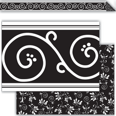 Black Decor Double-Sided Border