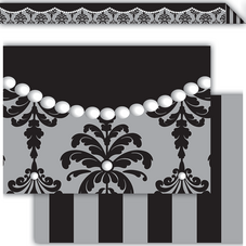 Damask & Pearls Double-Sided Border