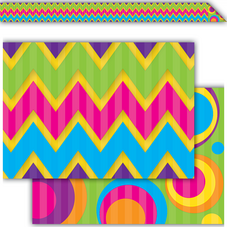Sassy Bubbles & Chevrons Double-Sided Border