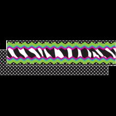 Zebra Chevron Dot Ribbon Runner