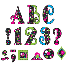 "Circle Frenzy 5"" Uppercase Fancy Font Letters"