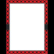 Red Plaid Blank Chart