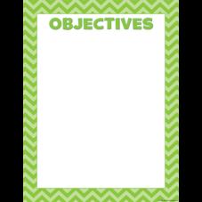 Lime Chevron Objectives Chart