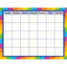 Rainbow Calendar Chart