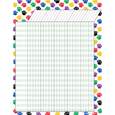 Colorful Paw Prints Incentive Chart