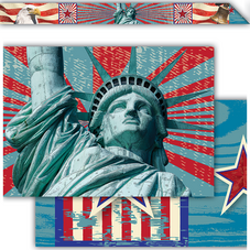 Americana Xtreme Double-Sided Border