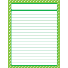 Lime Polka Dots Lined Chart