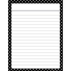 Black Polka Dots Lined Chart