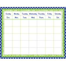 Navy & Lime Wild Moroccan Calendar Grid