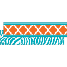 Orange and Teal Wild Moroccan Ribbon Runner